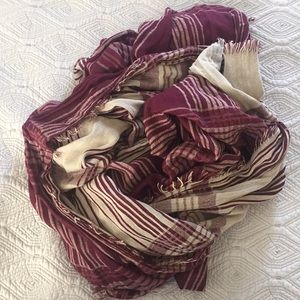 {Free People} plaid scarf